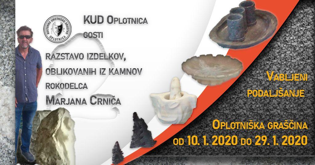 Podaljšanje razstave Marjana Crniča