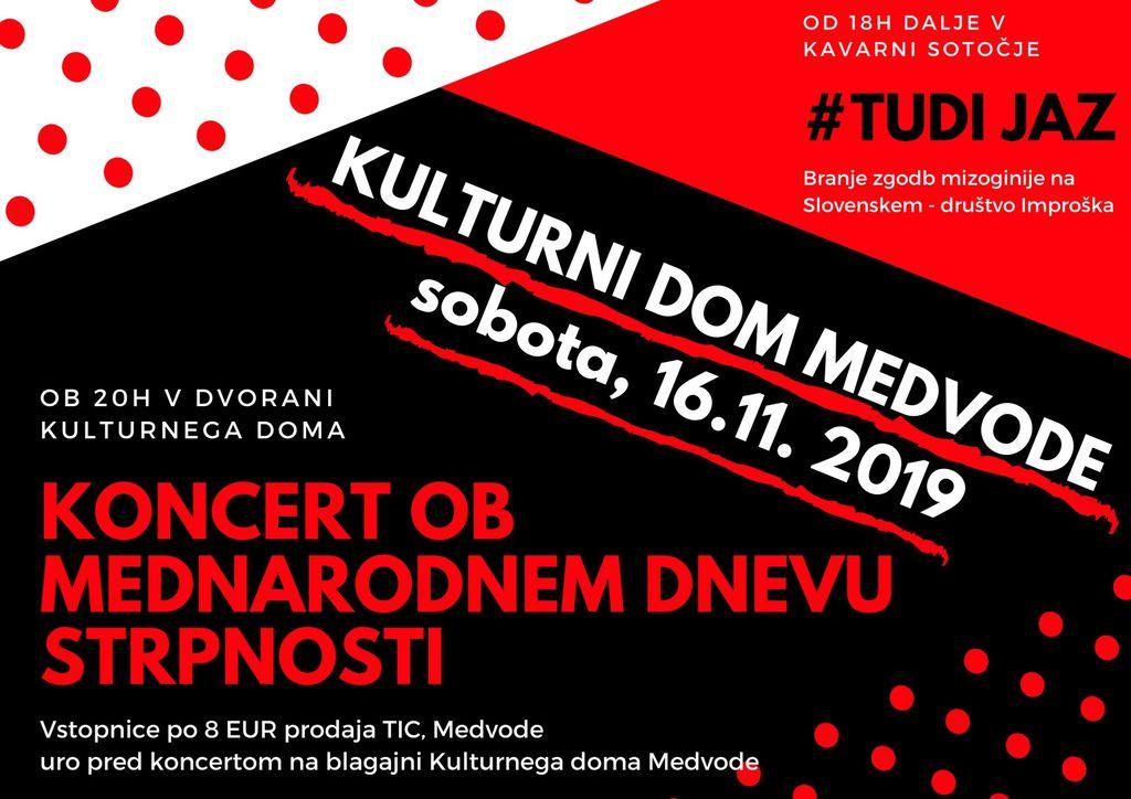 Mednarodni dan strpnosti - branje zgodb #jaztudi in koncert Kombinatk