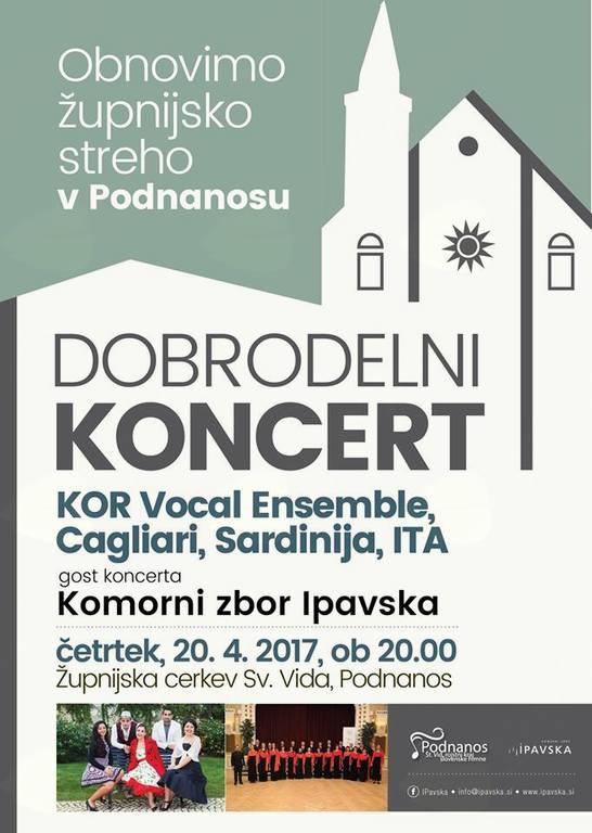 """Dobrodelni koncert: """"Obnovimo župnijsko streho v Podnanosu"""""""