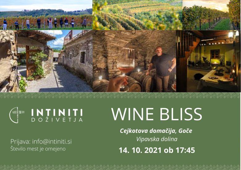Intiniti Wine Bliss doživetje na Gočah