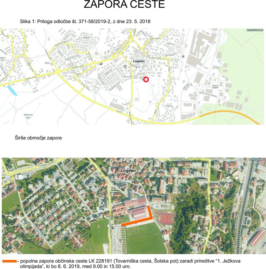 Zapora Tovarniške ceste in Šolske poti