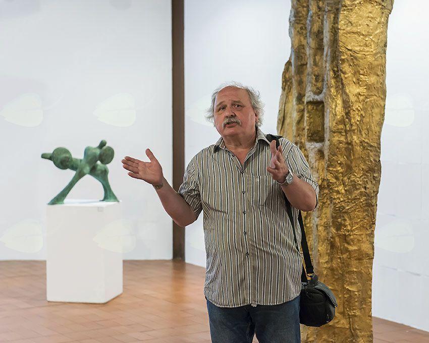 Javno vodstvo z Igorjem Lahom po razstavi Milena Lah, kiparka