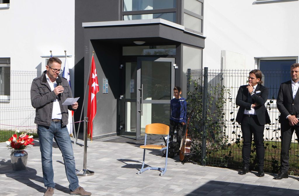 Z otvoritve novega bloka 5- Malteški dvori