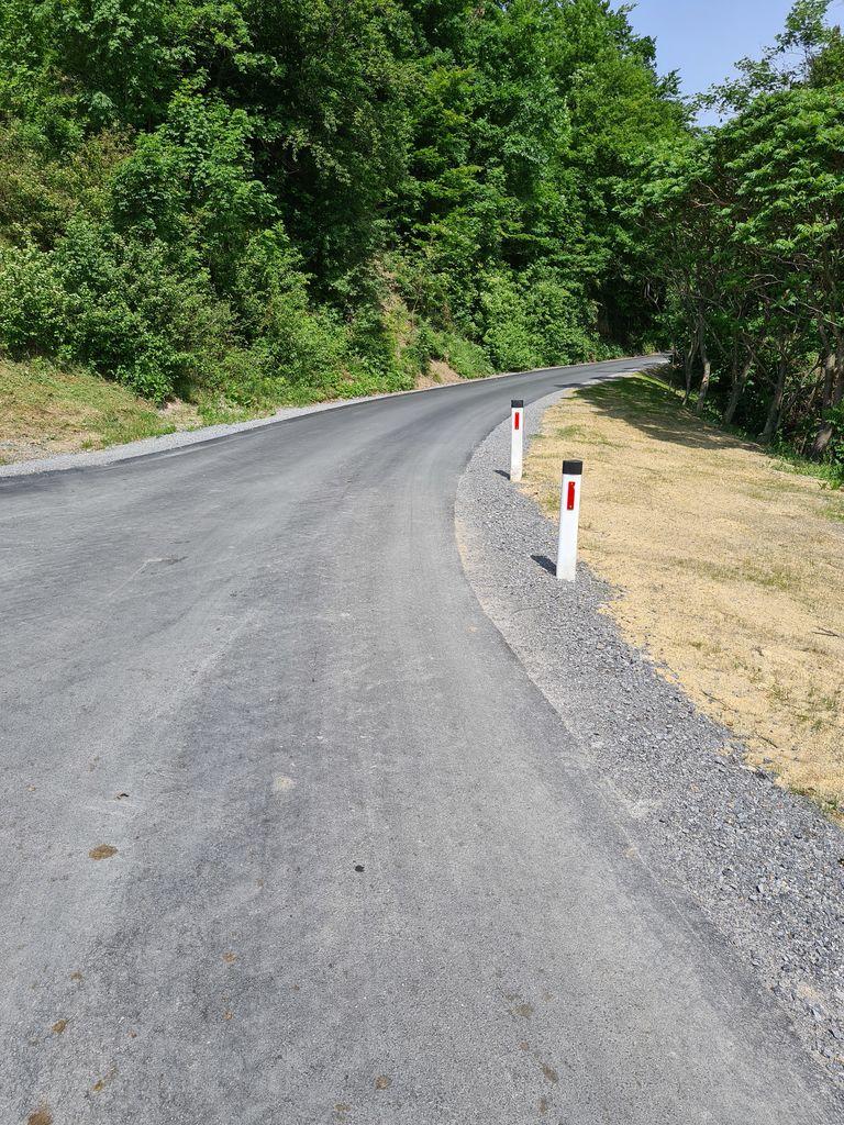 Obnova odseka lokalne ceste v Lovčah