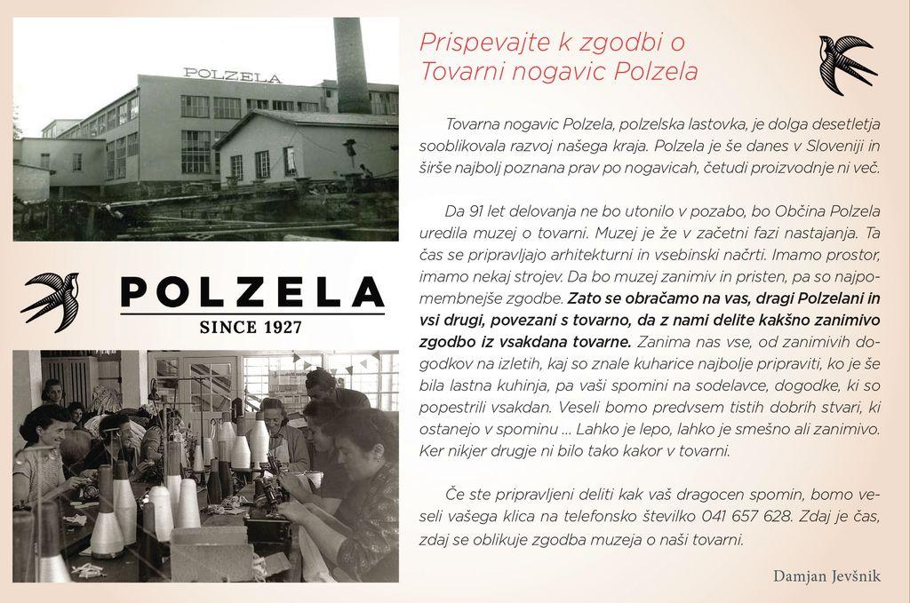 Prispevajte k zgodbi o Tovarni nogavic Polzela