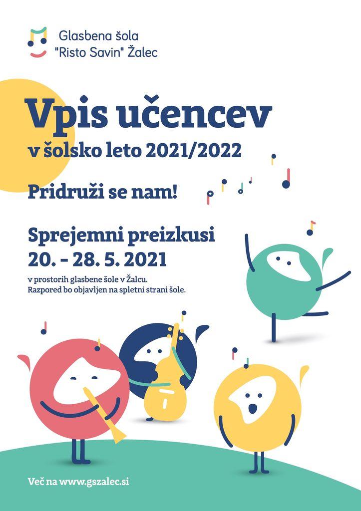 """Vpis učencev - Glasbena šola """"Risto Savin"""" Žalec"""