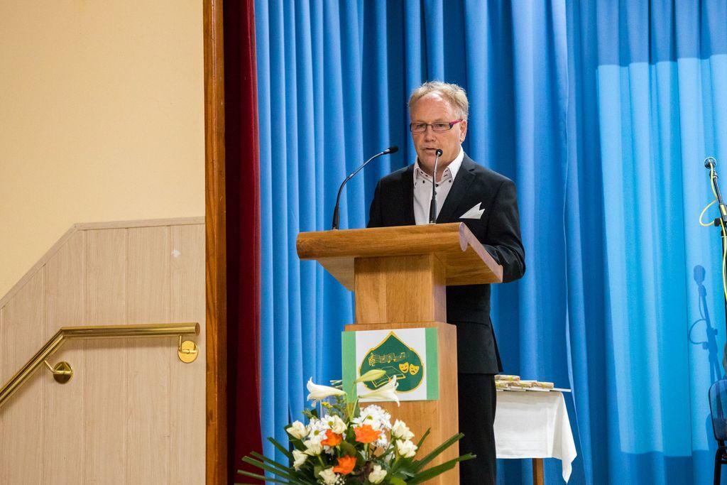 Predsednik Kulturnega društva Andraž Vili Pižorn ob nagovoru