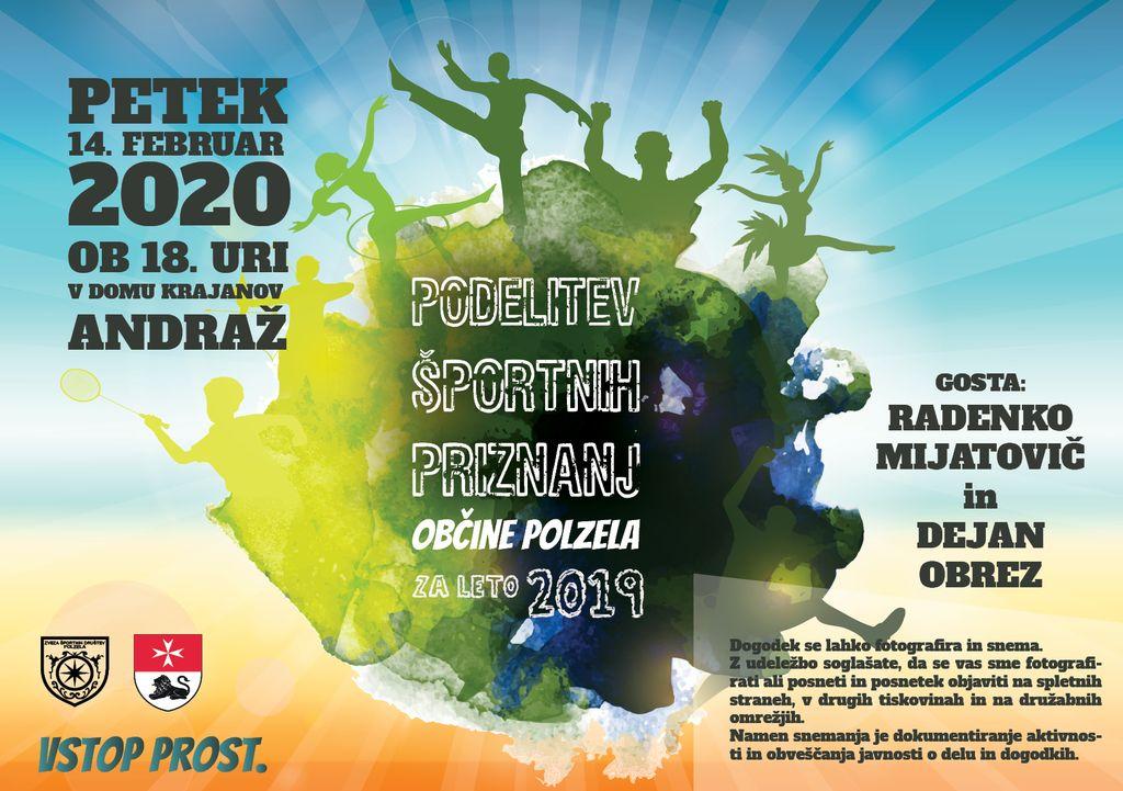 Podelitev športnih priznanj Občine Polzela za leto 2019