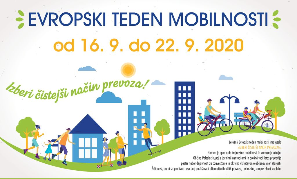 """Evropski teden mobilnosti: """"Izberi čistejši način prevoza!"""""""