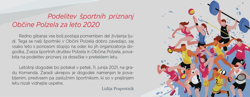 Podelitev športnih priznanj Občine Polzela