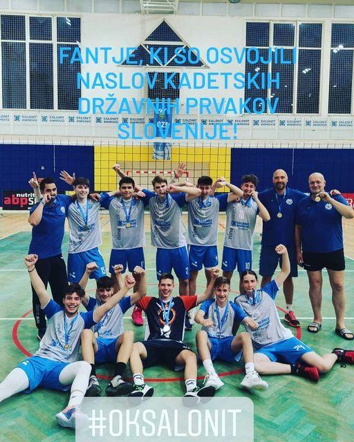 Ekipa Salonit Anhovo je kadetski državni prvak Slovenije