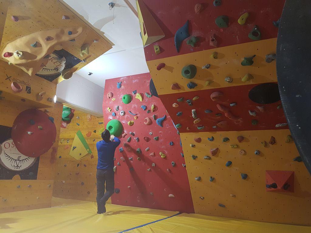 Nova plezalna pridobitev v telovadnici