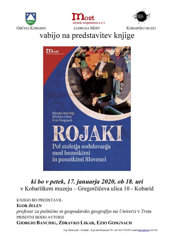 Predstavitev knjige ROJAKI - pol stoletja sodelovanja med beneškimi in posoškimi Slovenci
