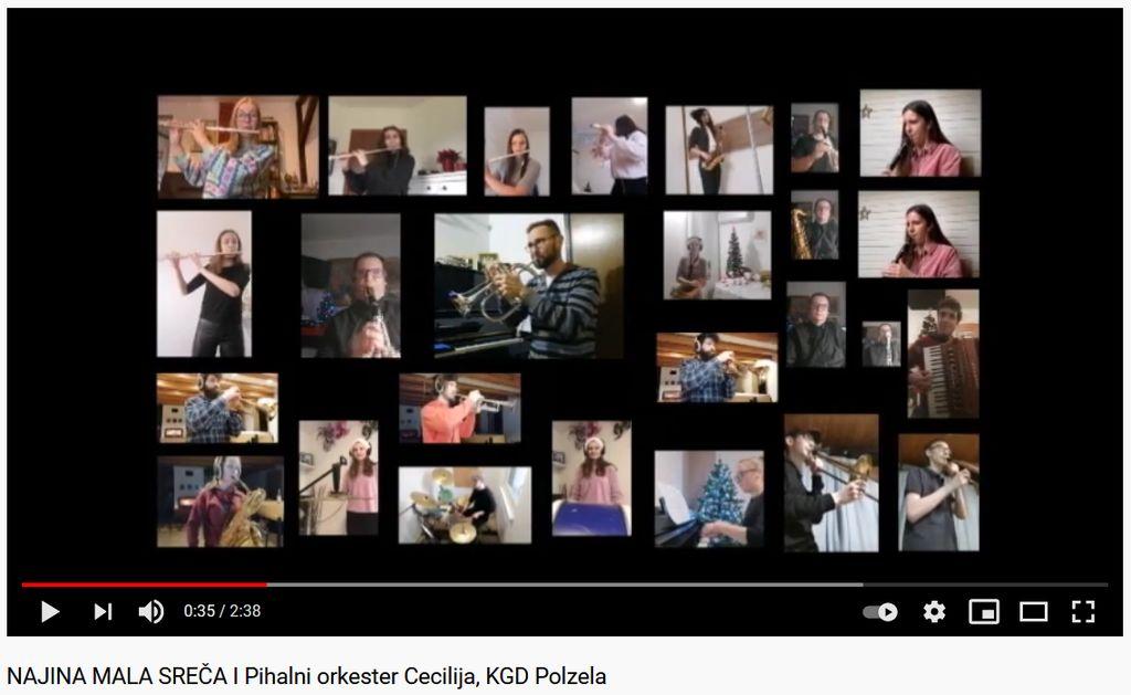 Pihalni orkester Cecilija na Youtubu