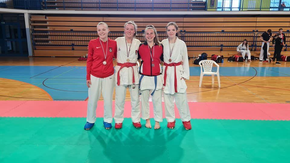 Od leve proti desni: Zala Žibret, Elizabeta Molnar, Zoja Avžner (KK Polzela) in Alja Likar.