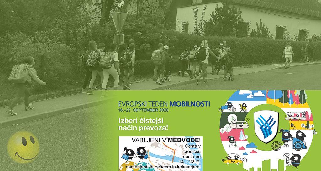 Pešbus - Evropski teden mobilnosti 2020 v Medvodah