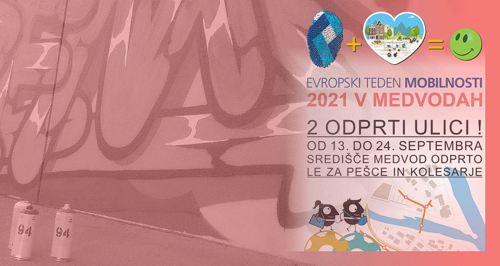Grafitarnica med vodami - Evropski teden mobilnosti 2021 v Medvodah