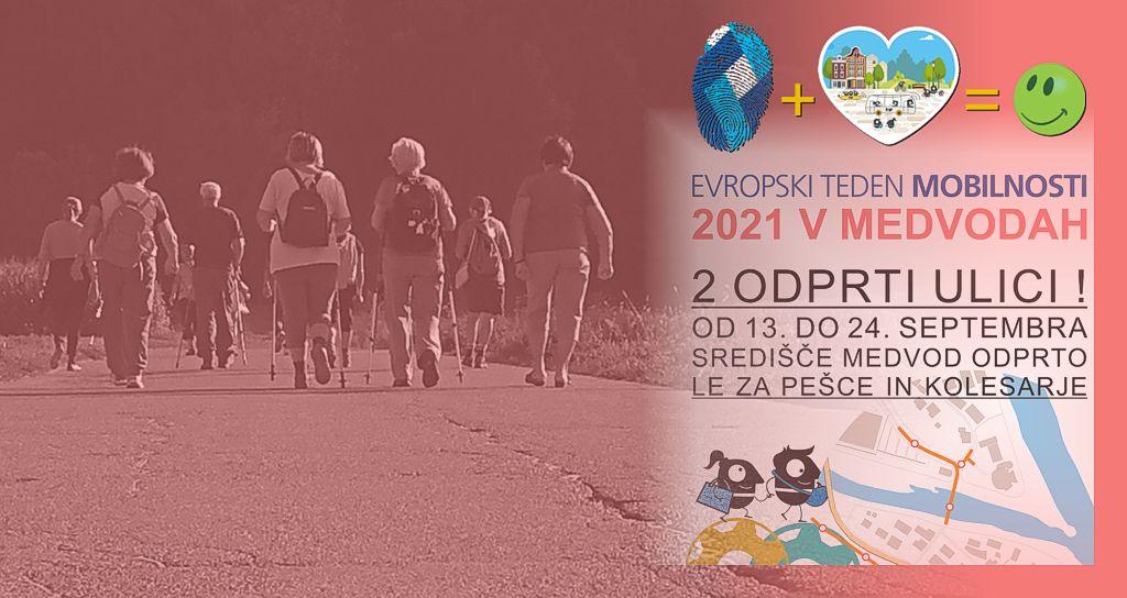 Pohod med vodami - Evropski teden mobilnosti 2021 v Medvodah