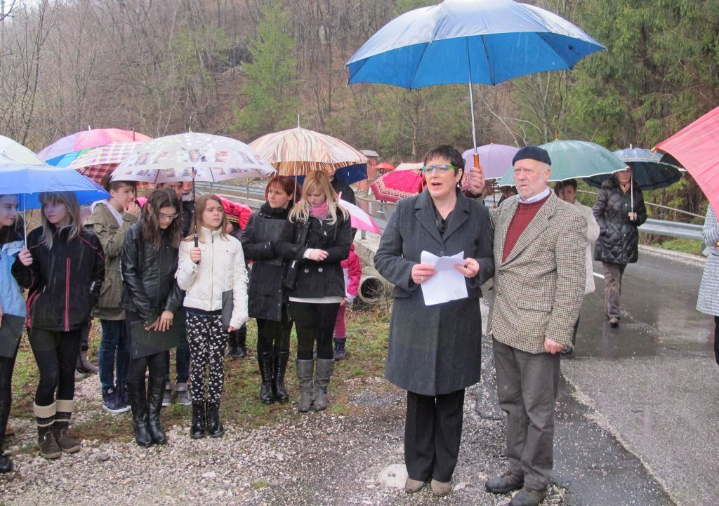 Slavnostna govornica podžupanja Občine Kobarid Božica Špolad Žuber. Foto: J.A.