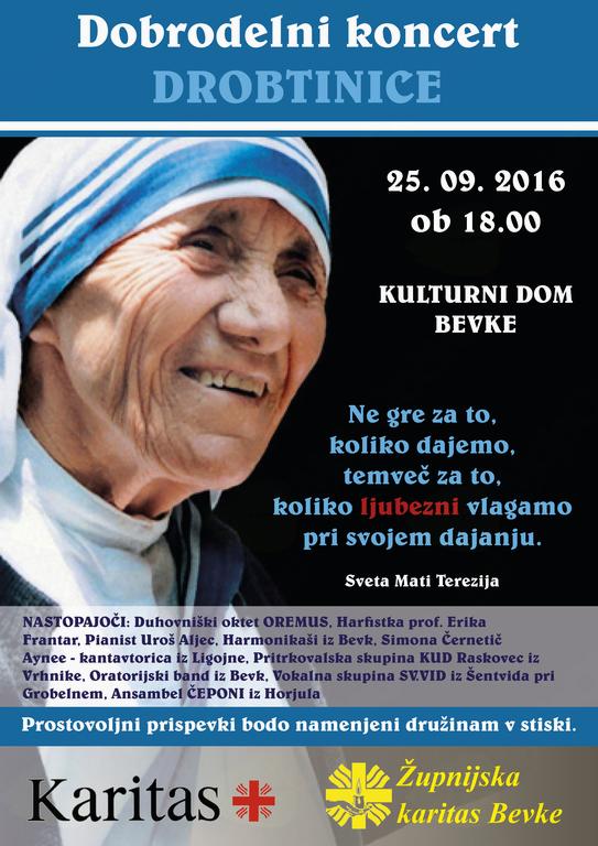 Vabljeni v Bevke na dobrodelni koncert