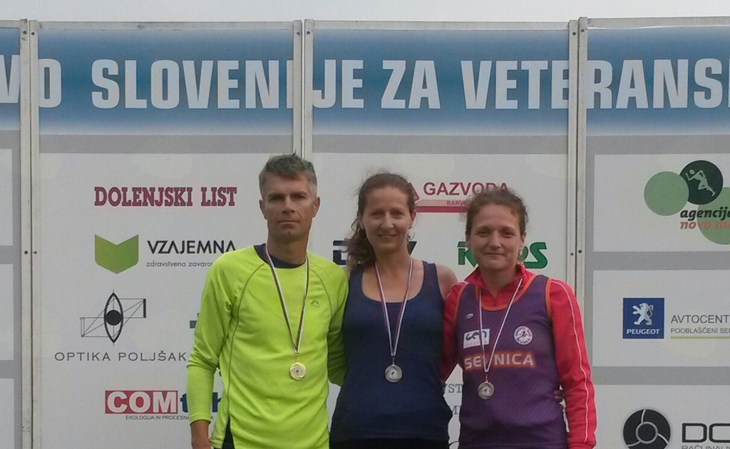 Veteransko DP: Robert Lendaro, Vanja Lendaro in Mateja Jazbec