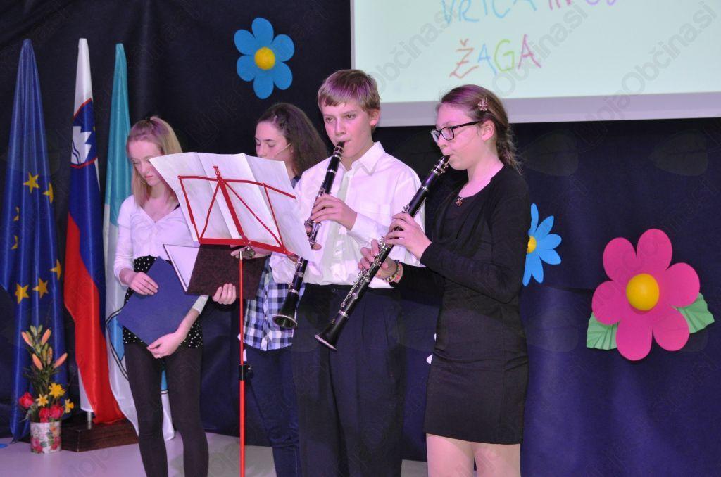 Nastopila sta tudi klarinetista Špela Rot in Martin Kavčič s skladbo Antonina Dvoržaka.