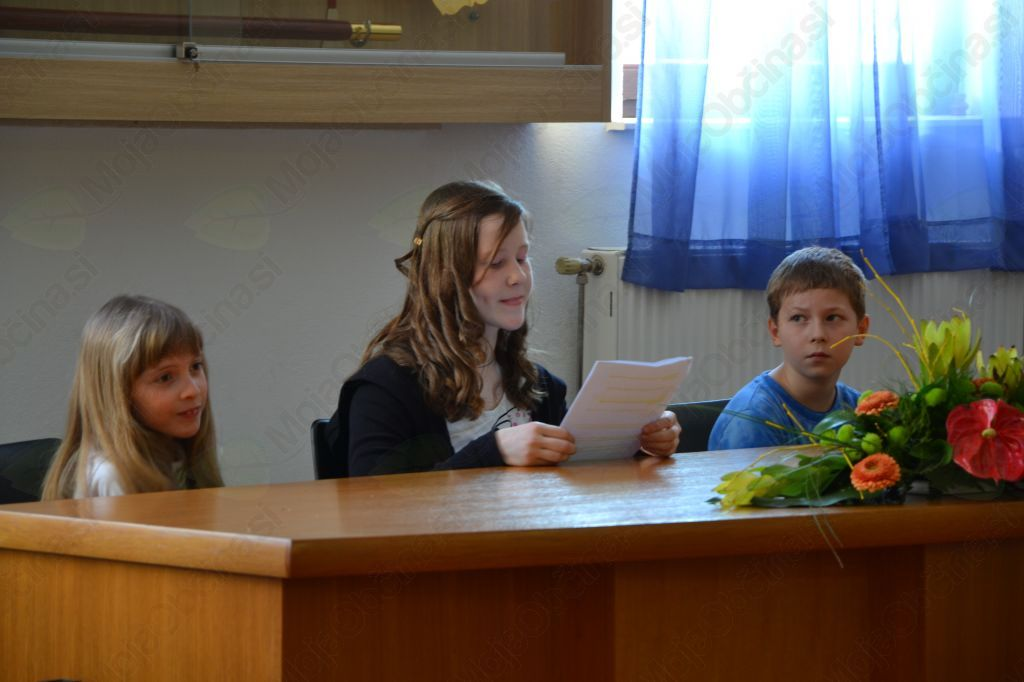 Delovno predsedstvo so sestavljali mladi gasilci: Saša Bleiweis, Manca Koprivec in Žan Žagar.