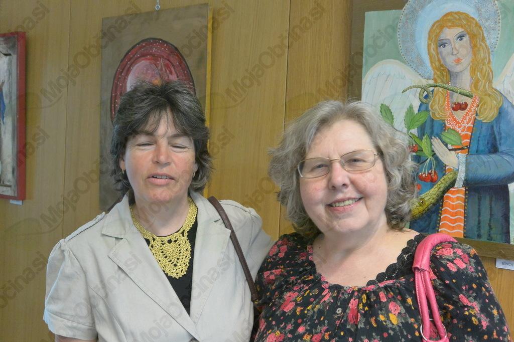 Irena Gorenc in Dari Korošec, članici likovnega društva