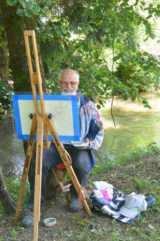 Ivan Koprivnik si je našel čudovit prostor za slikanje