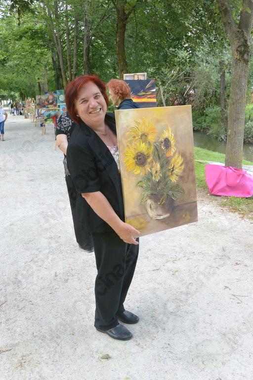 Manja Čamernik s svojo sliko