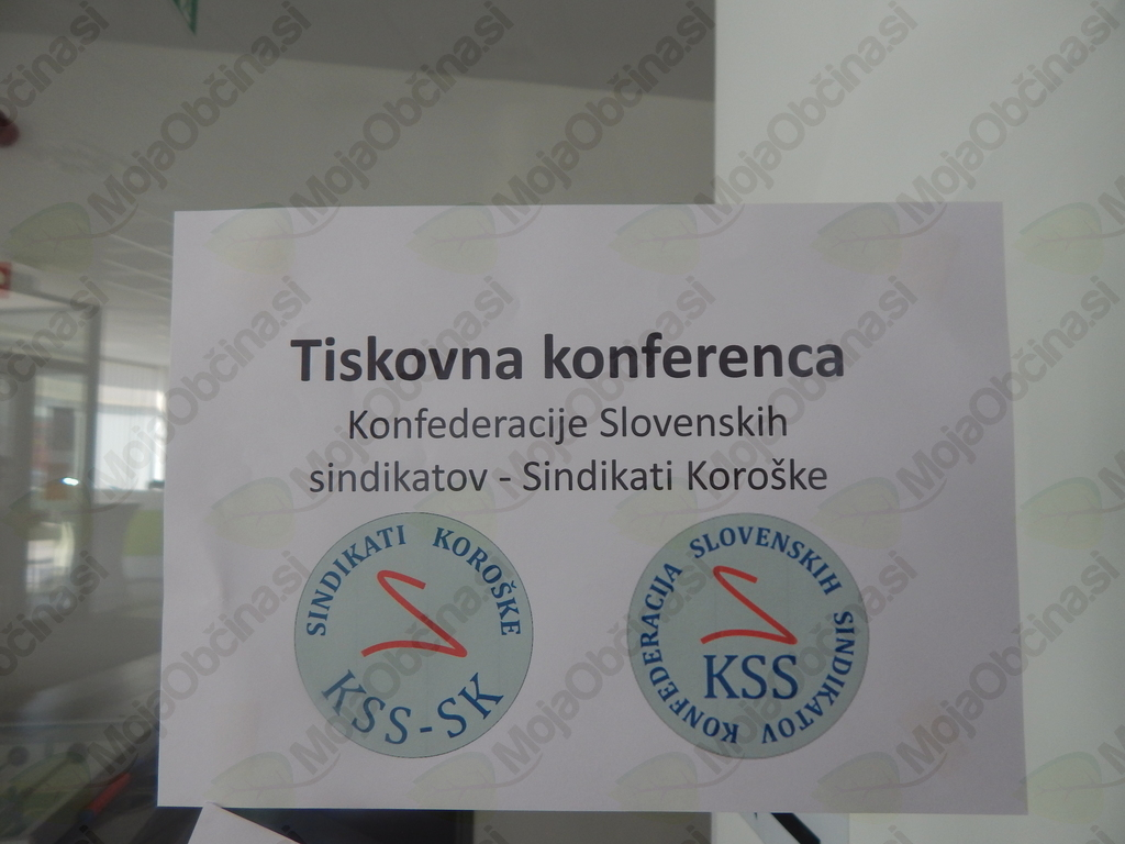 Tiskovna konferenca Konfederacije slovenskih sindikatov in KSS - Sindikati Koroške