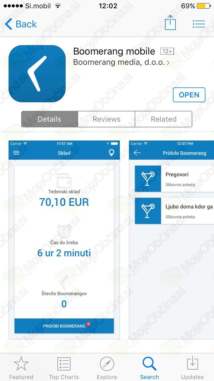 Aplikacija v App Storu