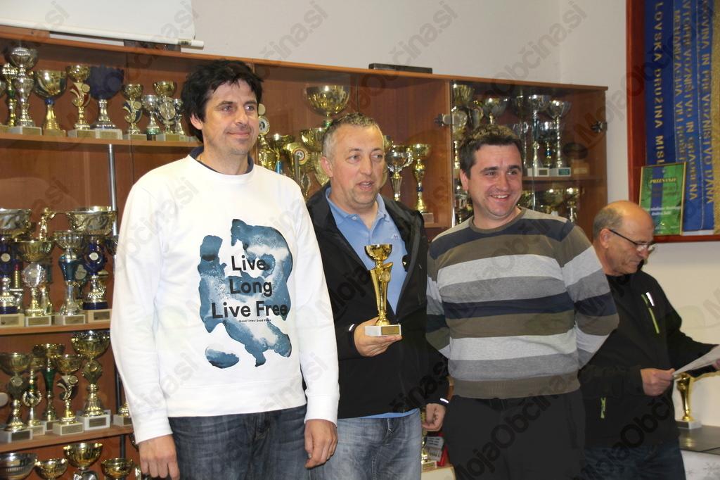 Dobitniki pokala za 3. mesto ekipno (ekipa VOJNIK I)