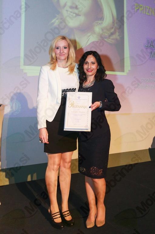 Suhokranjka prejela zlato priznanje Zveze Klubov tajnic Slovenije