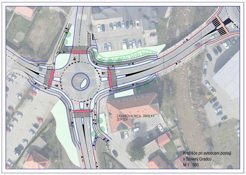 Izgradnja krožišča pri avtobusni postaji