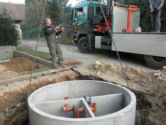 Betonska konstrukcija biočistilne naprave podjetja OJ, d. o. o.