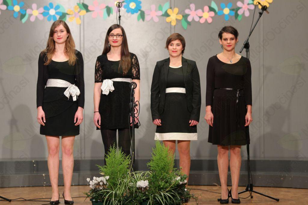 Vokalna skupina Gallina je nastopila v tretjem delu koncerta.