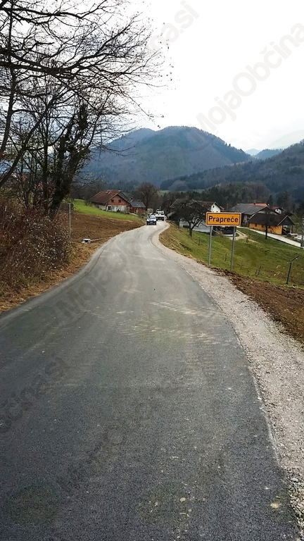 Končana obnova poškodovanega odseka lokalne ceste Prapreče- Lipa