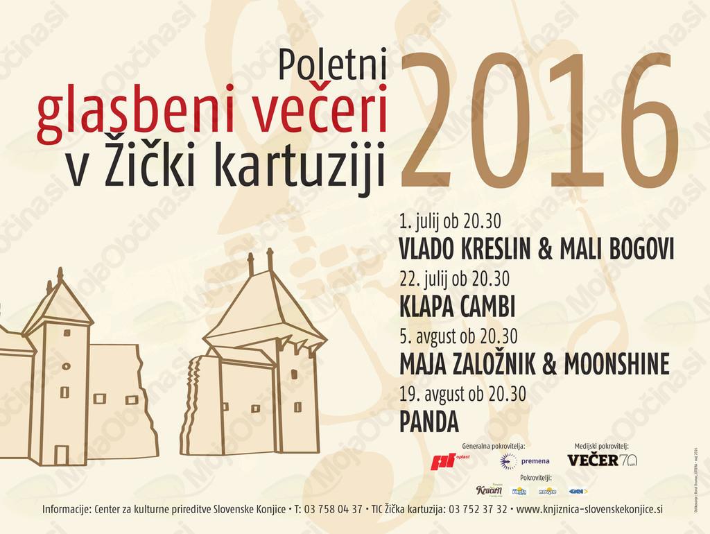Poletni glasbeni večeri v Žički kartuziji - VLADO KRESLIN & MALI BOGOVI