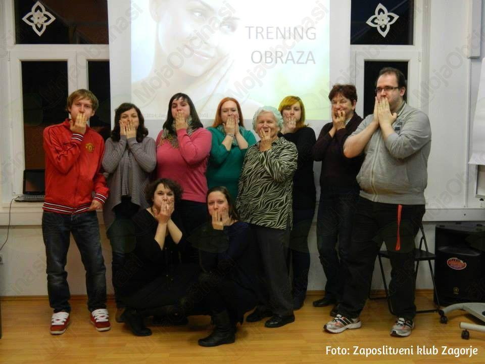 Udeleženci Delavnice treninga obraza.