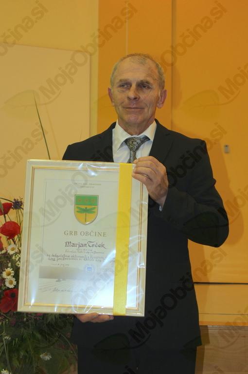 Marjan Trček, dobitnik grba Občine Log - Dragomer