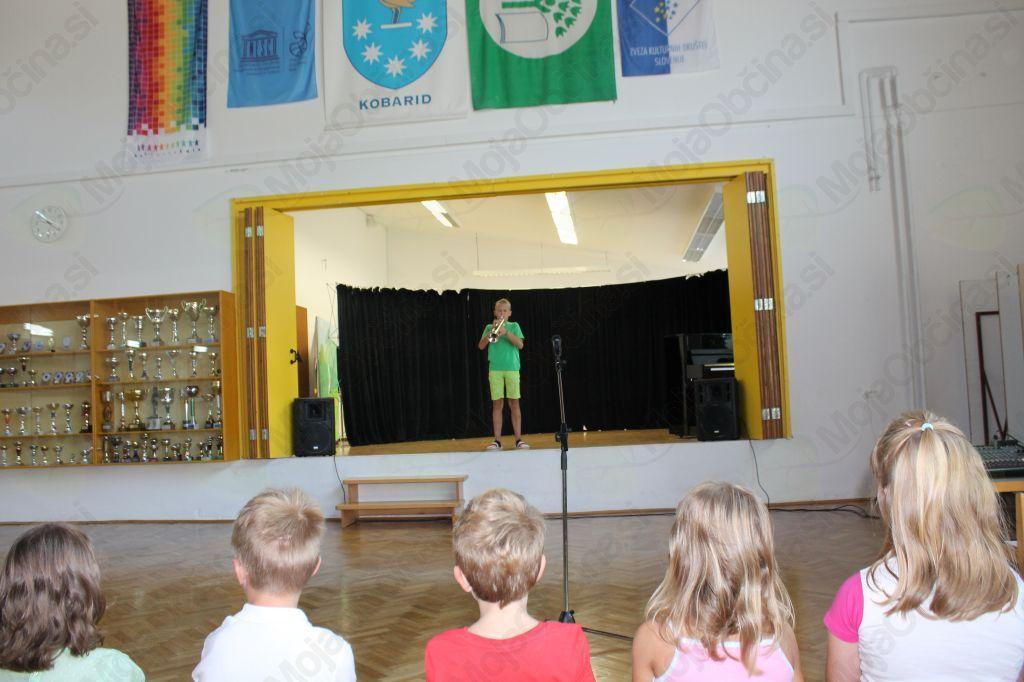 Kulturni program je z glasbeno točko obogatil mladi glasbenik Matic Skočir. Foto: Nataša Hvala Ivančič