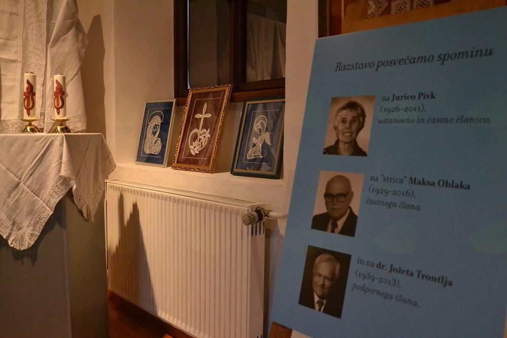 Tri pomembne osebnosti, katerim je bila posvečena letošnja razstava: Jurica Pivk, Maks Oblak in dr. Jože Trontelj