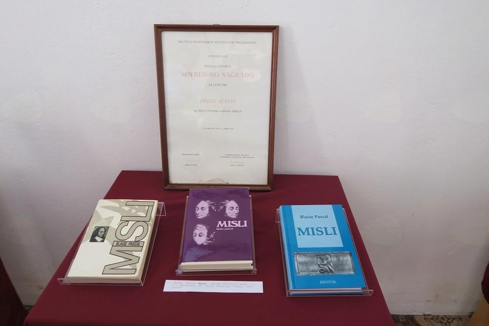 Sovretova nagrada za prevod Pascalovih Misli