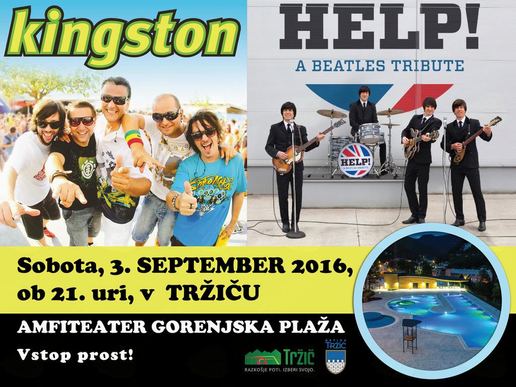 Tržiške poletne prireditve zaključujeta skupini Help! A Beatles Tribute in Kingston
