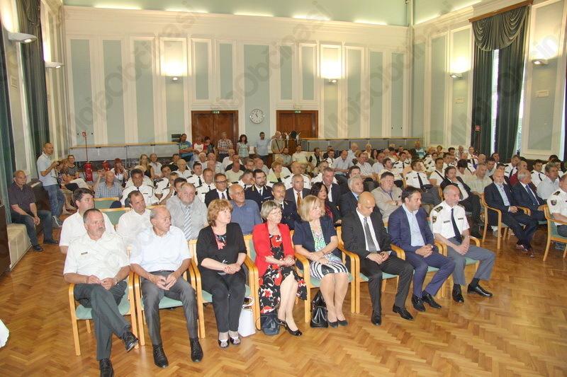 Proslave Policijske uprave Nova Gorica ob Dnevu slovenske policije se je udeležil tudi kobariški župan Robert Kavčič.