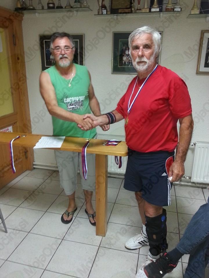 Ivan Korošec, predsednik KK Slovenj Gradec in Tone Garb, 1. mesto v 2. kategoriji