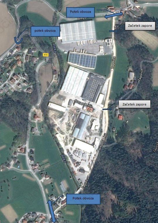 Obvestilo o zapori v Zagorici dne 11.10.2015