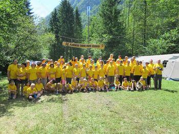 Planinski tabor Mladinskega odseka v Kamniški Bistrici