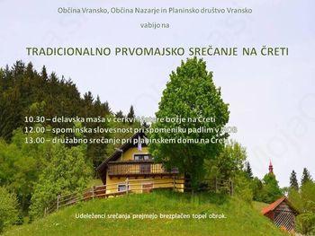 Vabilo - Prvomajsko srečanje na Čreti